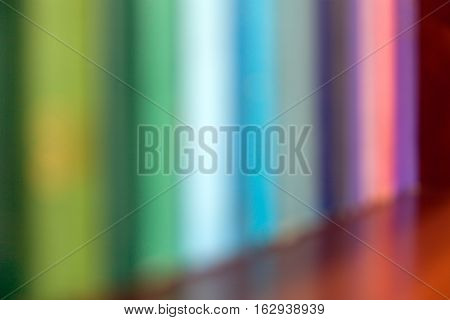 Abstract blurred books on shelf, education concept, stock image