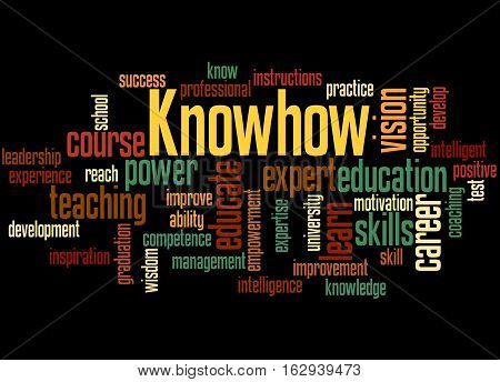Knowhow, Word Cloud Concept 2