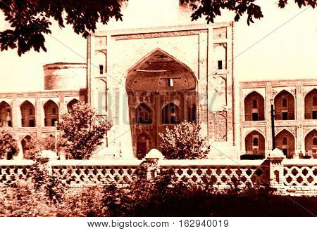 The Tilya-Kori Madrasah of Registan in Samarkand Uzbekistan 1959