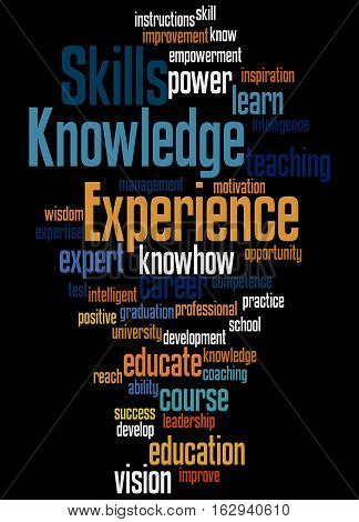 Knowledge Skills Experience, Word Cloud Concept 3