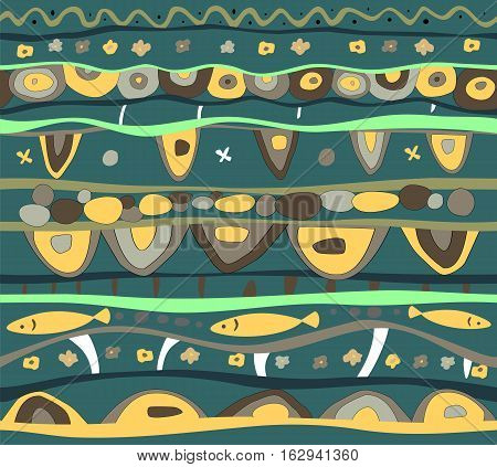 Seamless vector bright background with abstract pattern.