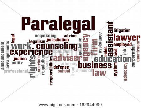 Paralegal, Word Cloud Concept 6