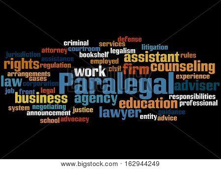 Paralegal, Word Cloud Concept 9
