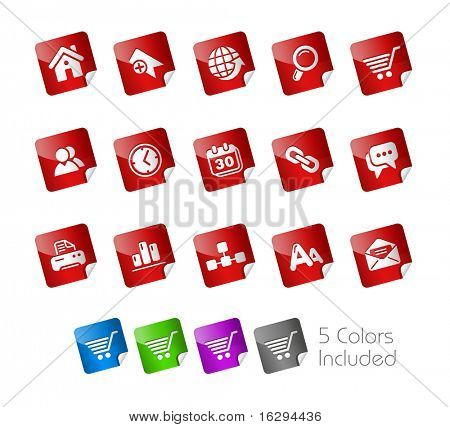Web Site & Internet // Stickers Series -------It includes 5 color versions for each icon in different layers ---------