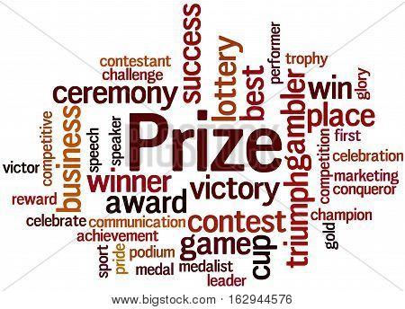 Prize, Word Cloud Concept 8