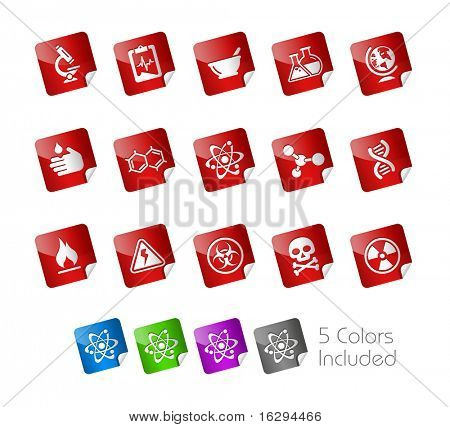 Science // Stickers Series -------It includes 5 color versions for each icon in different layers ---------