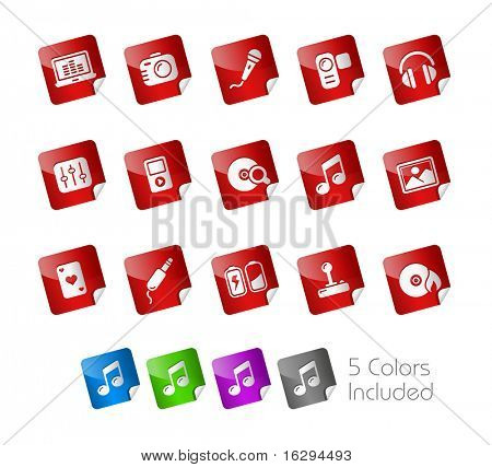 // Stickers Series -------It includes 5 color versions for each icon in different layers ---------