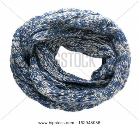 Scarf Isolated On White Background.scarf  Top View .blue Gray Scarf