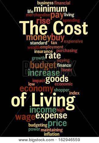 The Cost Of Living, Word Cloud Concept 2