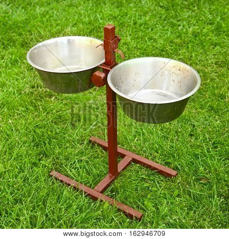 Holder With Dish For Food For Dogs