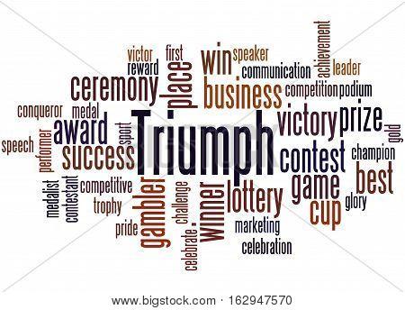 Triumph, Word Cloud Concept 2