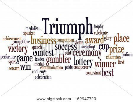 Triumph, Word Cloud Concept 8