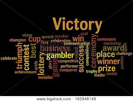 Victory, Word Cloud Concept