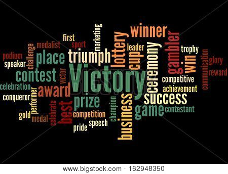 Victory, Word Cloud Concept 5