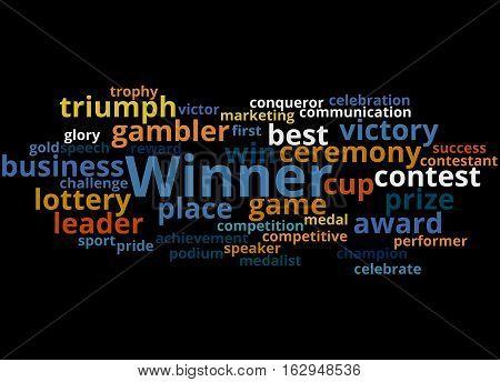 Winner, Word Cloud Concept 5