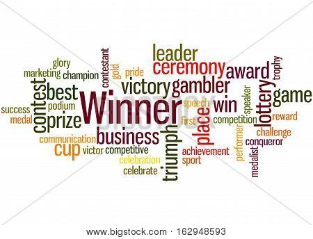 Winner, Word Cloud Concept 7