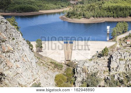 Dam at Pônsul river in Penha Garcia, Idanha-a-Nova, district of Castelo Branco, Portugal