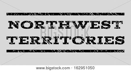 Northwest Territories watermark stamp. Text tag between horizontal parallel lines with grunge design style. Rubber seal stamp with dust texture.