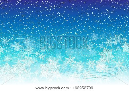 Holiday Snowy Background With Snowflakes And Blizzard.