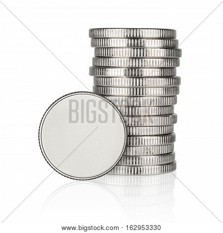 Silver Coin Stack