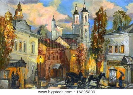 Old street in ancient Vitebsk
