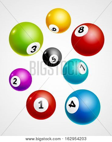 Bingo lottery balls numbers background. Lottery game balls. Lotto winner.