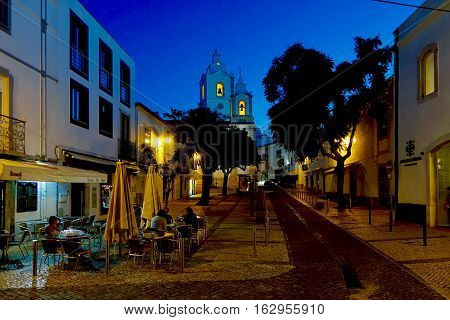 Lagos, Portugal, November 28, 2016: In the old town of Lagos in Portugal.