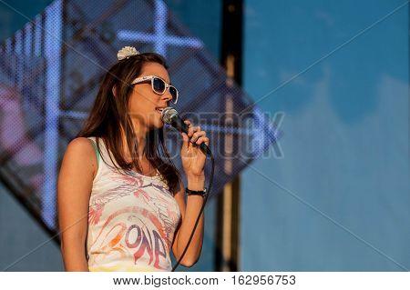 BELGRADE, SERBIA - JUNE 27TH: S.A.R.S. BAND PERFORMING ON BELGRADE CALLING FESTIVAL ON JUNE 27TH 2012, IN BELGRADE, SERBIA