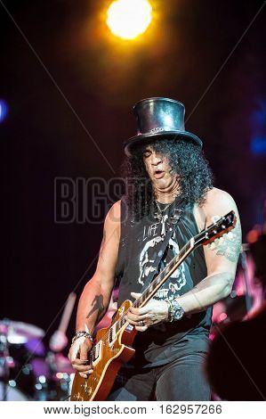 BELGRADE, SERBIA - JUNE 28TH: SLASH PERFORMING ON BELGRADE CALLING FESTIVAL ON JUNE 28TH 2012, IN BELGRADE, SERBIA