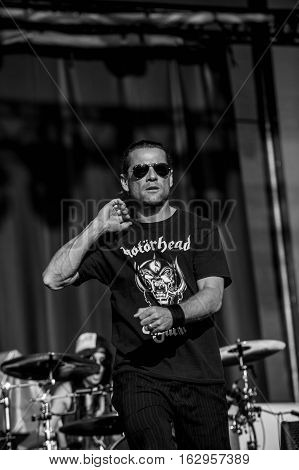BELGRADE, SERBIA - JUNE 29TH: SINGER WHITFIELD CRANE OF AMERICAN BAND UGLY KID JOE PERFORMING ON BELGRADE CALLING FESTIVAL ON JUNE 29TH 2012, IN BELGRADE, SERBIA