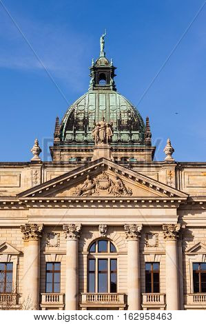 A detail of the historic Federal Administrative Court Leipzig