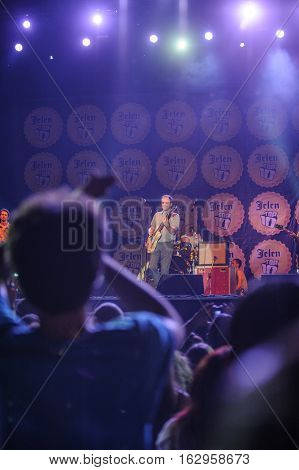 BELGRADE, SERBIA - JUNE 30TH: SERBIAN BAND EVA BRAUN PERFORMING ON BELGRADE CALLING FESTIVAL ON JUNE 30TH 2012, IN BELGRADE, SERBIA