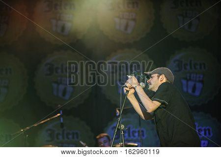 Belgrade, Serbia - June 30th: Serbian band Goribor performing on Belgrade Calling festival on June 30th 2012, in Belgrade, Serbia