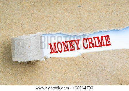 Finance Crime Concept.