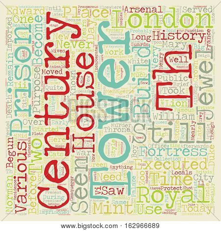 A Brief History Of The Tower Of London text background wordcloud concept