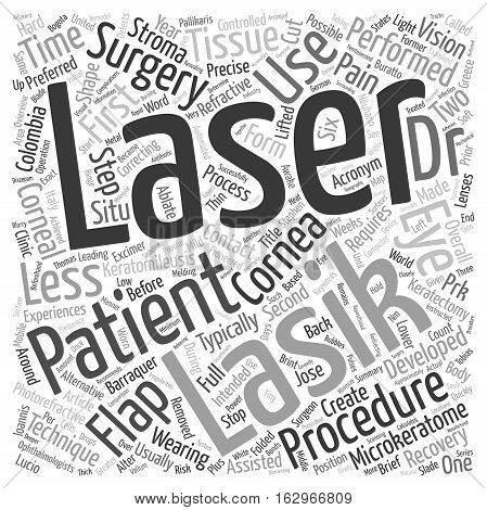 A Brief Ovierview Of Lasik Eye Surgery text background wordcloud concept
