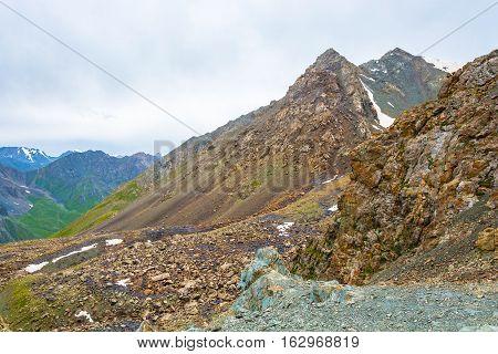 On A Mountain Pass, Kyrgyzstan.