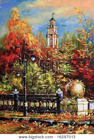 Ancient Vitebsk in the autumn