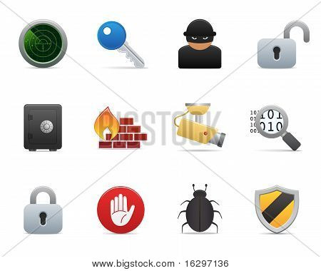 Smooth series - security Icons