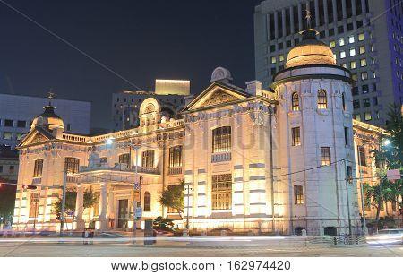 SEOUL SOUTH KOREA - OCTOBER 19, 2016: Bank of Korea building in Seoul South Korea. Bank of Korea is the central bank of South Korea and issuer of South Korean won