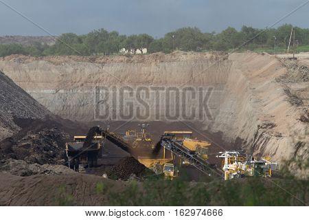 San Miguel power plant coal mine near Campbellton Texas.