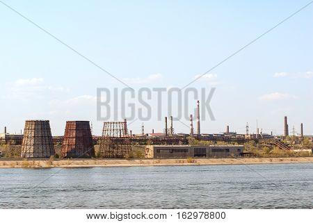 Ironworks On River Coastline