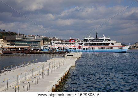 Tourist Boat To Miyajima Island, Japan