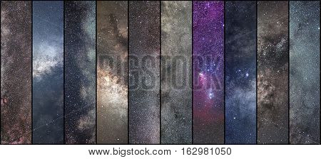 Space Collage. Astronomy Collage. Astrophotography Collage. Universe..long Exposure Photography.