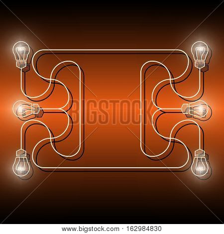 Vector objects with bulbs and the words informatics computing