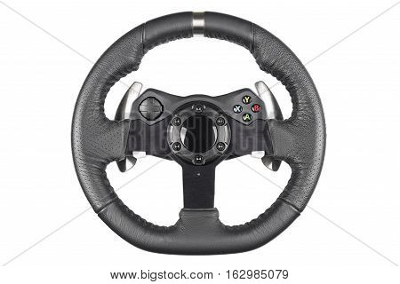 Steering wheel isolated on white background Steering wheel isolated on white background