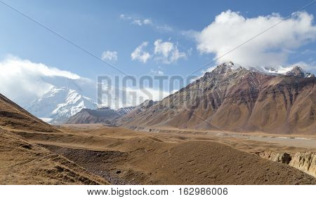 Beautiful landscapes in Southern Kyrgyzstan close to Sary-Mogul.