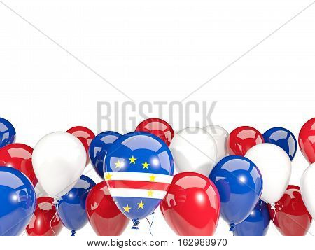 Flag Of Cape Verde With Balloons