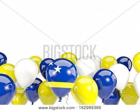 Flag Of Curacao With Balloons