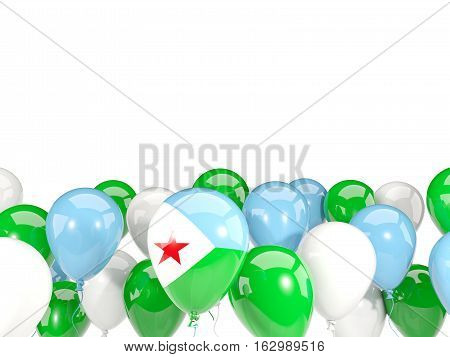 Flag Of Djibouti With Balloons